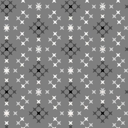 punto de cruz: Seamless abstract cross-stitch embroidery pattern on gray background