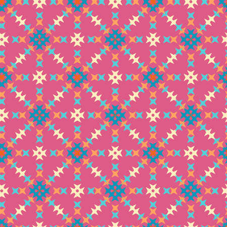 punto de cruz: patr�n de punto de cruz bordado abstracto sin fisuras en el fondo de color rosa