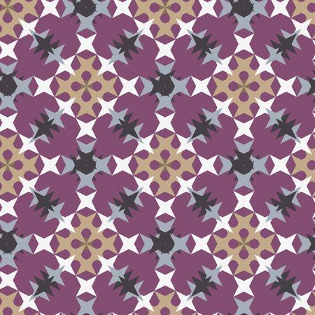 punto de cruz: patrón de punto de cruz bordado abstracto transparente sobre fondo morado