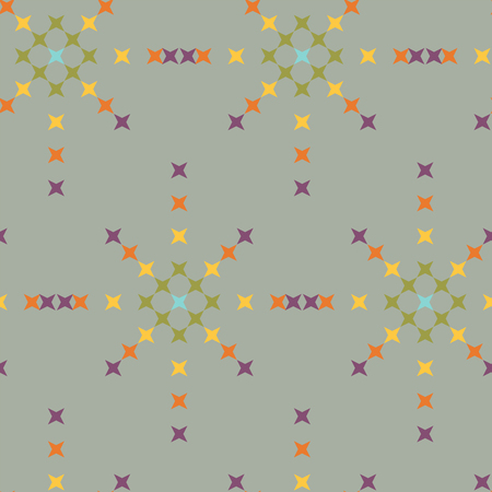 punto de cruz: patrón de punto de cruz bordado abstracto sin fisuras en el fondo de color rosa