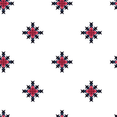 crossstitch: Seamless abstract cross-stitch embroidery pattern on white background