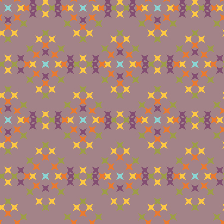 crossstitch: Seamless abstract cross-stitch embroidery pattern on pink background Vectores