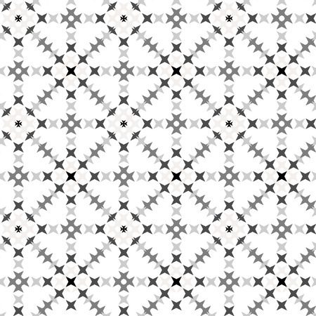 punto de cruz: Seamless abstract cross-stitch embroidery pattern on white background