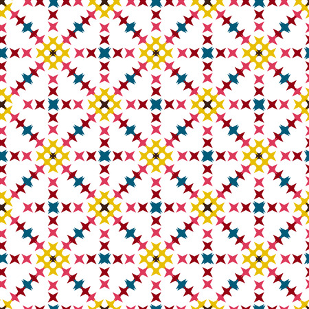 punto de cruz: Seamless abstract cross-stitch embroidery pattern on light background