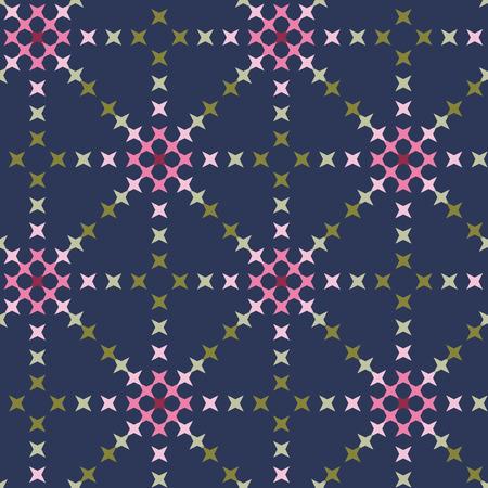 punto de cruz: patr�n de punto de cruz bordado abstracto transparente sobre fondo azul oscuro