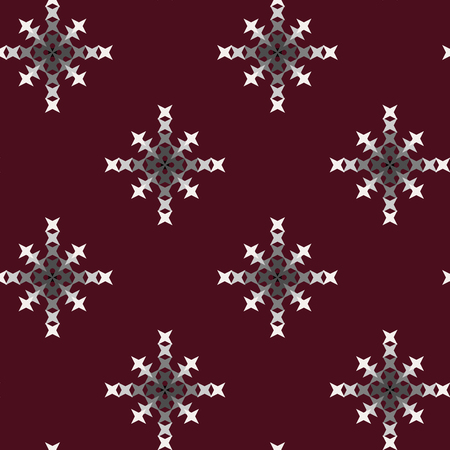 punto de cruz: Seamless abstract cross-stitch embroidery pattern on colorful background