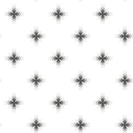 decorative pattern: Seamless abstract cross-stitch embroidery pattern on white background