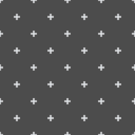 Seamless abstract pattern created from repetition of plus cross symbols Ilustração