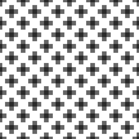Seamless abstract pattern created from repetition of plus cross symbols