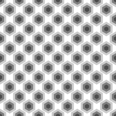 iteration: Seamless black and white geometric abstract pattern from hexagons