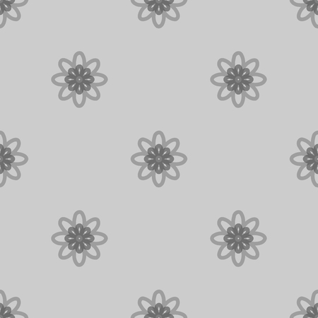 ellipses: Seamless black and white abstract flower pattern created from circle and ellipses Illustration