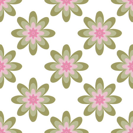 ellipses: Seamless colorful abstract flower pattern created from circle and ellipses