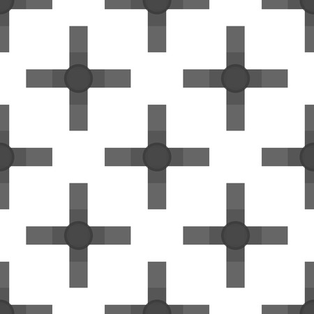spotted line: Seamless abstract modern pattern created from Lines Illustration