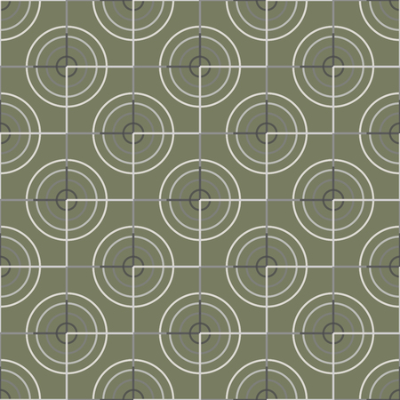 raster artistic: Seamless abstract modern pattern created from Circles and Lines
