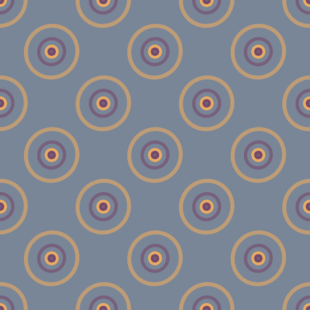 spotted line: Seamless abstract modern pattern created from Circles