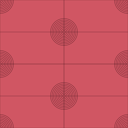 spotted line: Seamless abstract modern pattern created from Circles and Lines