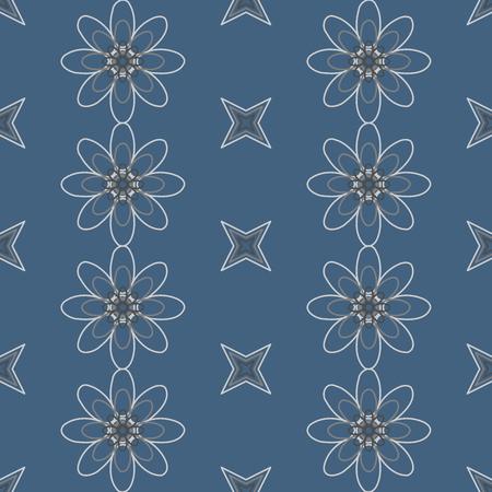 dibujos de flores: Resumen patr�n de flores de colores sin fisuras creado a partir de c�rculo y elipses Vectores