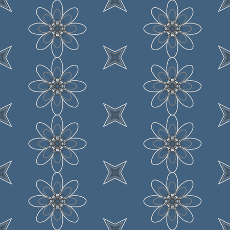 feminine floral flower: Seamless colorful abstract flower pattern created from circle and ellipses