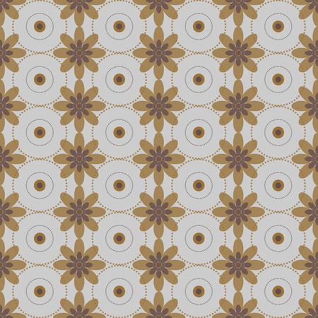 circle flower: Seamless colorful abstract flower pattern created from circle and ellipses