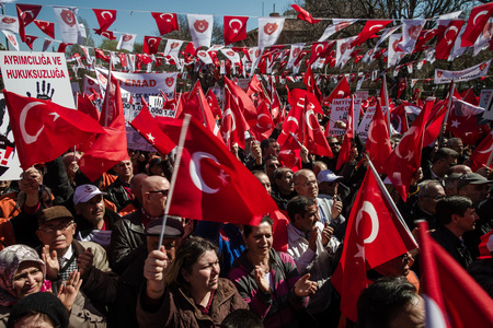 ANKARA, TURKEY -MAR 15, 2014 : Tens of Thousands Retired Turkish NCO' s Meeting, Held for Personal Rights Editorial