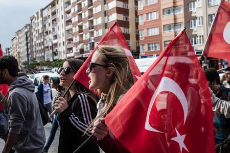 ESKISEHIR, TURKEY - JUNE 2, 2014: Commemoration on the anniversary of Ali Ismail Korkmaz's death