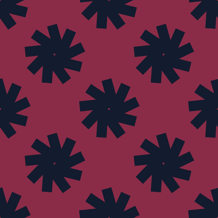 Geometric abstract pattern created from repetitive shapes Ilustração