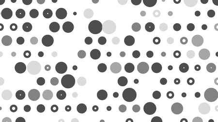 Black and white  polka dot pop art creative design, vector illustration, halftone background