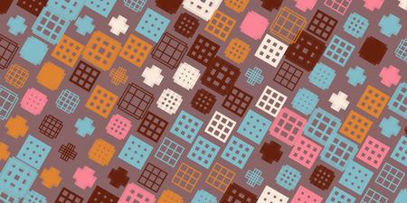 Creative abstract design, vector illustration from random repetitive rectangles Ilustração