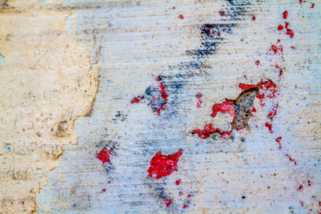Red, blue old retro grungy peeled wall texture, background