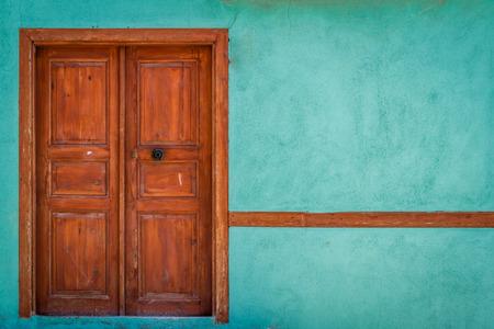 Traditional Turkish house door in Odunpazari, EskiÅŸehir