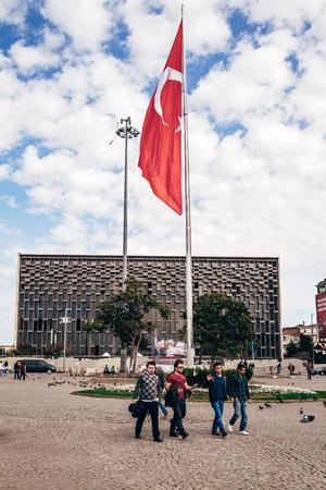 ISTANBUL, TURKEY - MAR 27, 2014: Ataturk Cultural Center in Taksim