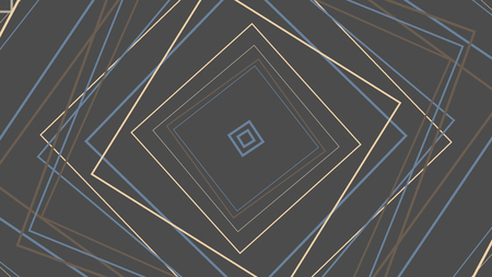 Rotating concentric shapes, optical illusion abstract pattern vector background Foto de archivo - 119767840
