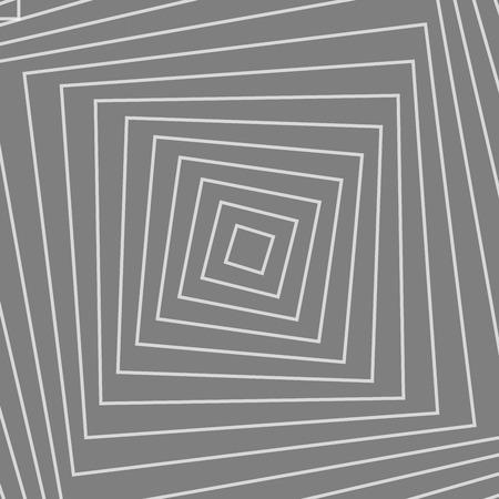 Rotation des formes concentriques, illusion d'optique abstrait vecteur de fond Vecteurs