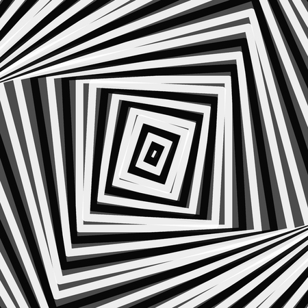 Rotating concentric shapes, optical illusion abstract pattern vector background Foto de archivo - 119767968