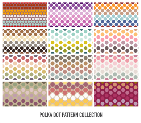 Polka dot pop art creative design set, vector illustration, abstract background
