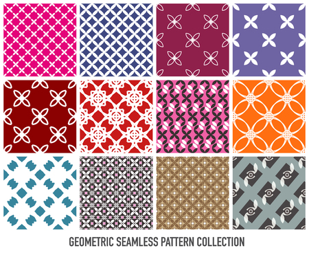 Colorful seamless abstract modern pattern eps10 vector collection