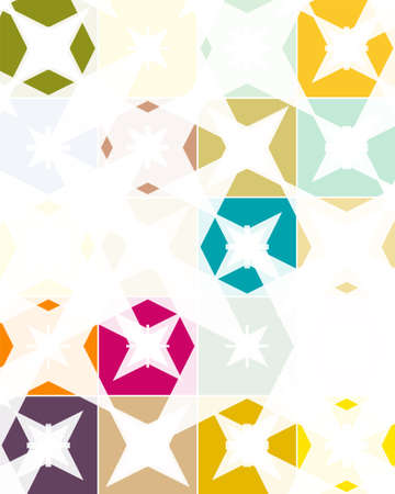 Random colorful abstract shapes from stars, background, vector pattern