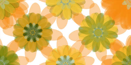 Creative colorful abstract design, vector illustration from random flowers