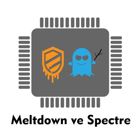 meltdown and specter processor  イラスト・ベクター素材