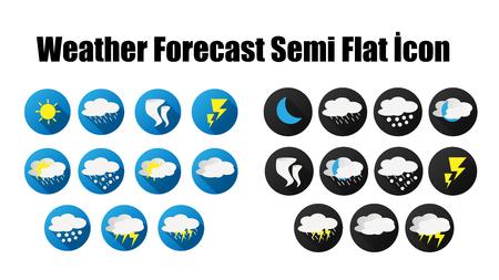 weather forecast semi flat icon wep
