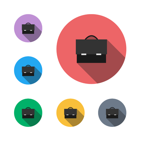 Briefcase handbag semi flat icon design