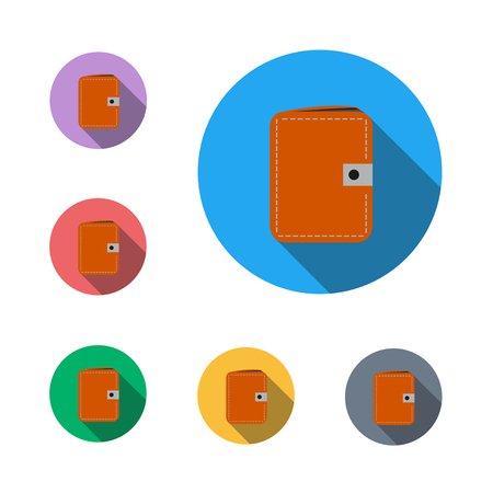 WALLET icon button symbo, business business man semi flat icon  イラスト・ベクター素材