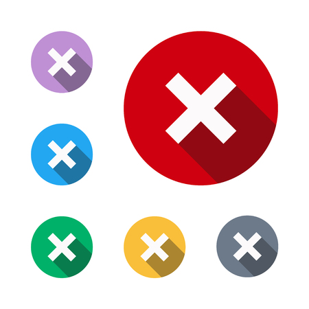 No rejection icon button cross symbol red sign plus,