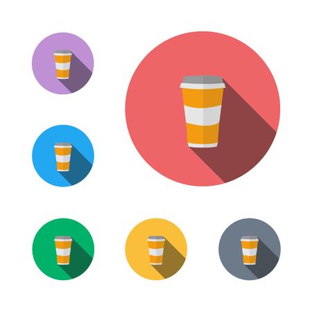 Coffee cup icon button symbol design