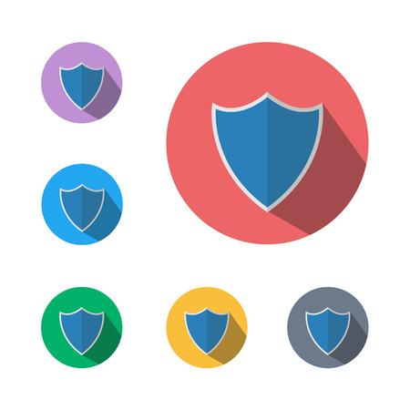 Shield icon symbol button set