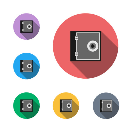 Safe deposit box icon button symbol