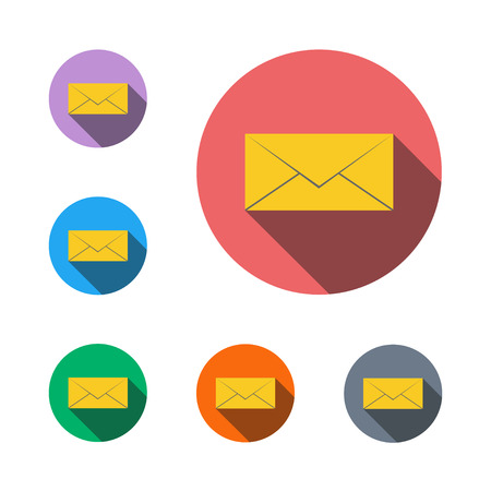 Mail icon button email web envelope e-mail internet  イラスト・ベクター素材