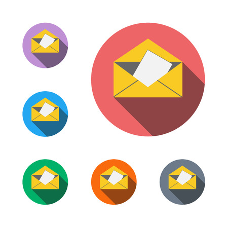 Mail icon button email web envelope e-mail internet Illustration