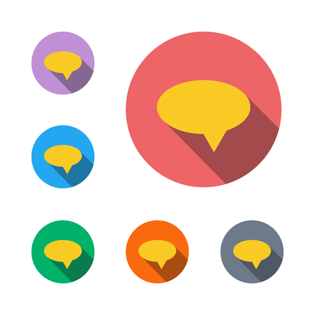 speech icon bubble bubble message communication flat icon