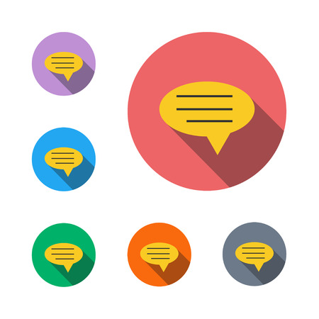Speech icon bubble bubble message communication flat icon